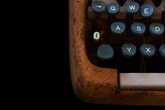 Schreibmaschine, Warteinspiration Weinlese Rusty Typewriter Ma Lizenzfreie Stockbilder
