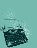 Schreibmaschinen-Abbildung stockbilder
