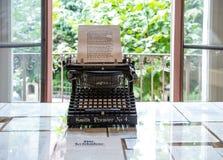 Schreibmaschinen-Herman Hesse-Museum Montagnola die Schweiz stockbilder