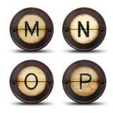 Schreibmaschinenbuchstaben Stockbilder