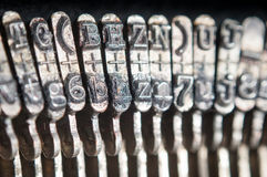 Schreibmaschinenbuchstaben Stockfotos
