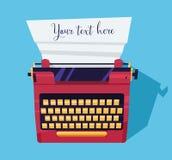 Schreibmaschinenfarbe auf dem Tisch Lizenzfreie Stockfotografie