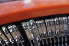 Schreibmaschinennahaufnahme stockfoto