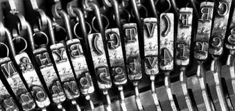 Schreibmaschinensymbole Lizenzfreies Stockbild