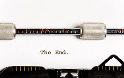 Schreibmaschinentext Lizenzfreies Stockbild
