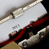 Schreibmaschinentext Stockfotografie