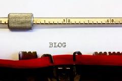 Schreibmaschinentext Stockbild