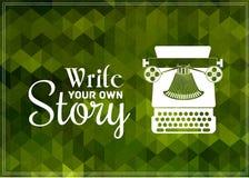 Schreibmaschinenvektor Lizenzfreie Stockbilder