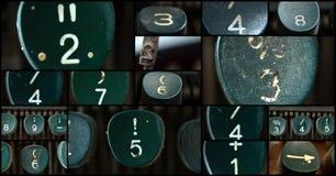 Schreibmaschinenzahlen Stockfoto