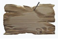 Schreibplatte mit einem Nagel geregelt im Retrostil Lizenzfreie Stockbilder