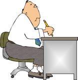 Schreibtisch-Arbeit Stockbild