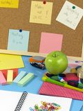 Schreibtisch des Kursteilnehmers Lizenzfreies Stockfoto