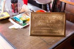 Schreibtisch Dolly Houses, Ketchikan Stockfotos
