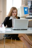 Schreibtisch-Job Stockbild