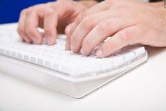 Schreibtisch, komputer, Hand Stockfotografie
