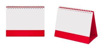Schreibtisch-Spiralenkalender des leeren Papiers Stockbilder