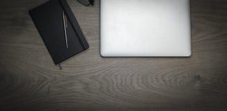 Schreibtischdunkelheit Stockbilder
