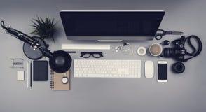 Schreibtischheldtitel Stockfotos