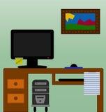 Schreibtischjob Stockbild