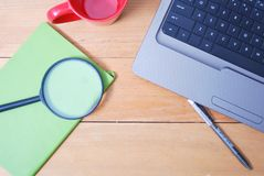 Schreibtischtabelle von der Spitze Lizenzfreies Stockfoto