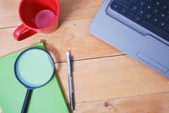 Schreibtischtabelle von der Spitze Lizenzfreies Stockbild