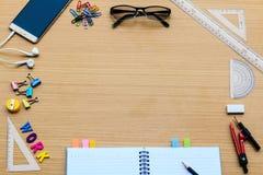 Schreibtischwerkzeuge für Arbeit Lizenzfreies Stockfoto