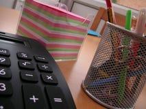 Schreibtischzubehör Stockbild