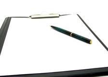 Schreibunterlage mit Kugelfeder lizenzfreie stockfotografie