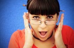 Schreien der jungen Frau der Freude Lizenzfreie Stockfotos