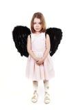 Schreien des kleinen Mädchens des Engels Lizenzfreies Stockbild