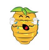 Schreiende Bienenstockkarikatur Stockfoto