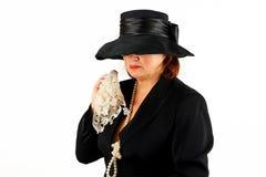 Schreiende Dame Stockfoto