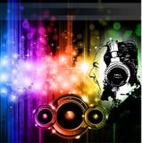 Schreiende DJ-Hintergrunddiscoflugblätter lizenzfreie abbildung