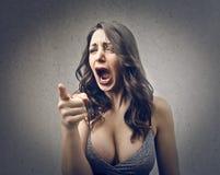 Schreiende Frau lizenzfreie stockfotos