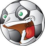 Schreiende Fußballkugel Stockfoto