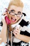 Schreiende Geschäftsfrau Stockfotos