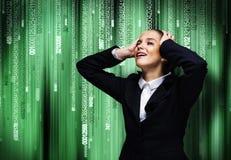 Schreiende Geschäftsfrau Stockfoto