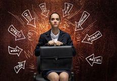 Schreiende Geschäftsfrau Lizenzfreies Stockbild