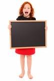 Schreiende Kind-Tafel Stockfotografie