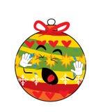 Schreiende Weihnachtsbaum-Spielzeugkarikatur Stockbild