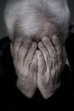 Schreiender alter Mann Lizenzfreies Stockbild
