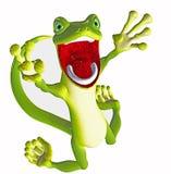 Schreiender Gecko Toon Stockbilder