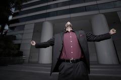 Schreiender Geschäftsmann Stockfotografie