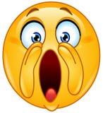 Schreiender lauter Emoticon Lizenzfreie Stockbilder