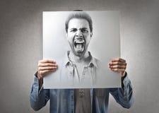 Schreiender Mann stockfoto