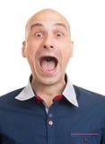 Schreiender Mann Lizenzfreies Stockfoto