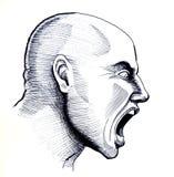Schreiender Mann vektor abbildung