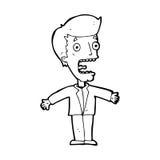 schreiender Mann der Karikatur Stockfotos