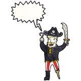 schreiender Piratenkapitän der Karikatur Lizenzfreies Stockfoto
