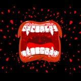Schreiender Vampir Dracula-Schreie Heftiges Gefühl Öffnen Sie Ihr m stock abbildung